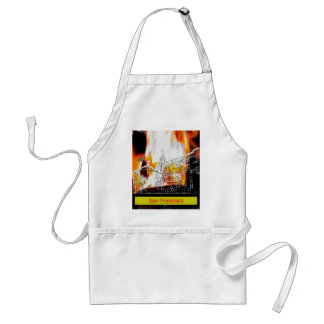 San Francisco 1986art The MUSEUM Zazzle Drawing+ Aprons