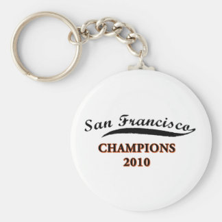 san francisco 2010 champs basic round button key ring