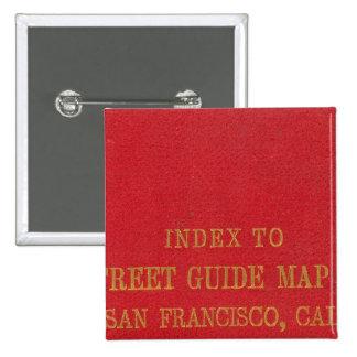 San Francisco 2 15 Cm Square Badge