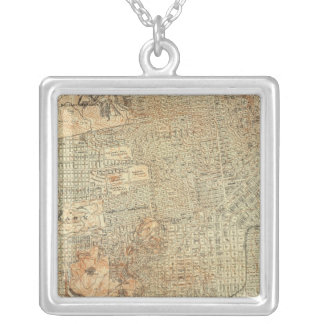 San Francisco 5 Silver Plated Necklace