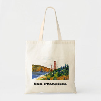 San Francisco and the Beautiful Golden Gate Bridge Budget Tote Bag