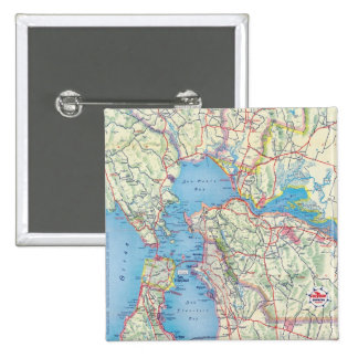 San Francisco and Vicinity 15 Cm Square Badge