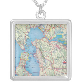 San Francisco and Vicinity Silver Plated Necklace