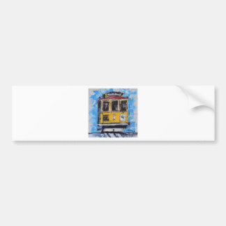 San Francisco Art, Cable Car Painting, California Bumper Sticker