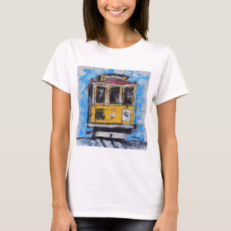San Francisco Art, Cable Car Painting, California T-Shirt