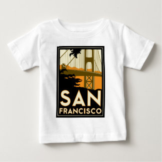 San Francisco Art Deco Travel Poster Baby T-Shirt