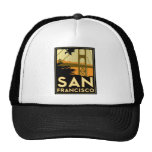 San Francisco Art Deco Travel Poster Hat