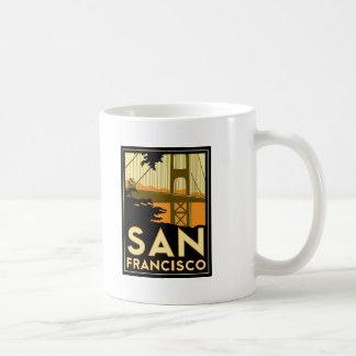 San Francisco Art Deco Travel Poster Mug