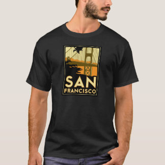 San Francisco Art Deco Travel Poster T-Shirt