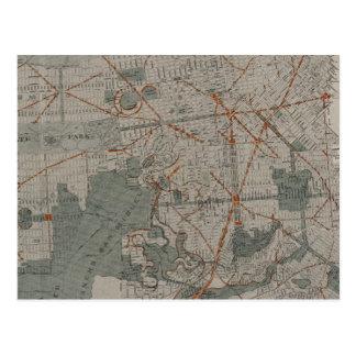 San Francisco Atlas Map showing public places Postcard