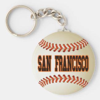 SAN FRANCISCO BASEBALL BASIC ROUND BUTTON KEY RING