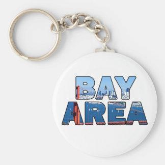 San Francisco Bay Area 015 Basic Round Button Key Ring