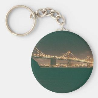 San Francisco Bay Bridge Basic Round Button Key Ring