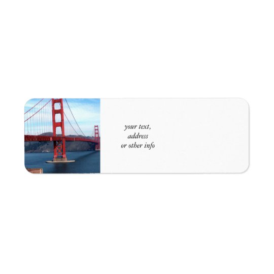 San Francisco Bay Bridge Return Address Label