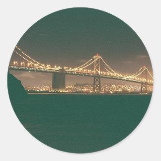 San Francisco Bay Bridge Round Sticker