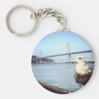 San Francisco Bay Bridge Seagull Basic Round Button Key Ring