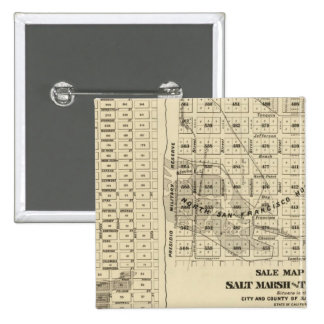 San Francisco Bay Salt Marsh 2 15 Cm Square Badge