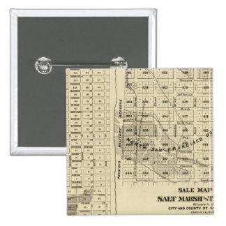 San Francisco Bay Salt Marsh 2 15 Cm Square Badge