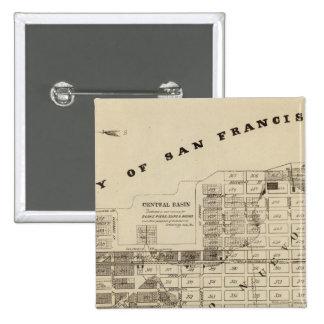 San Francisco Bay Salt Marsh 15 Cm Square Badge