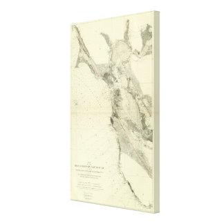 San Francisco Bay showing San Andreas Rift Canvas Print
