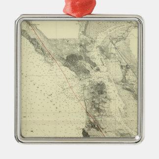 San Francisco Bay showing San Andreas Rift Christmas Ornament