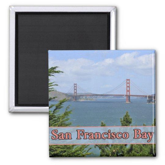 San Francisco Bay Square Magnet