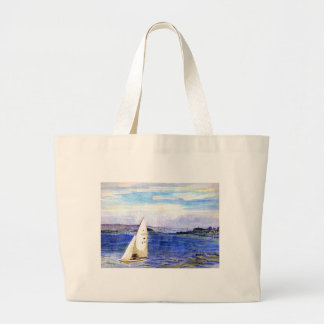 San Francisco Bay Watercolor Large Bag