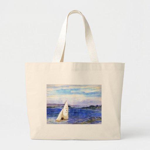 San Francisco Bay Watercolor Large Bag