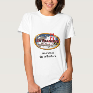 San Francisco Bay with personalized words T Shirts