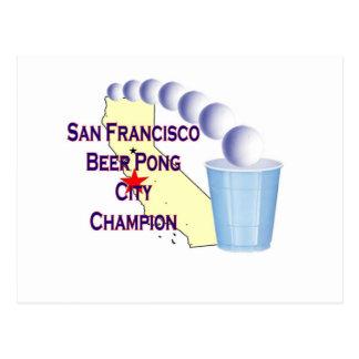 San Francisco Beer Pong Champion Postcard