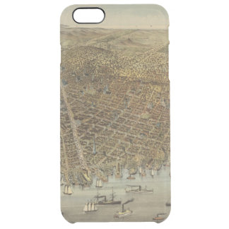 San Francisco Birds eye view Clear iPhone 6 Plus Case