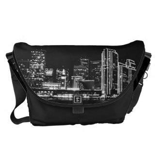 San Francisco black Rickshaw bag Courier Bag