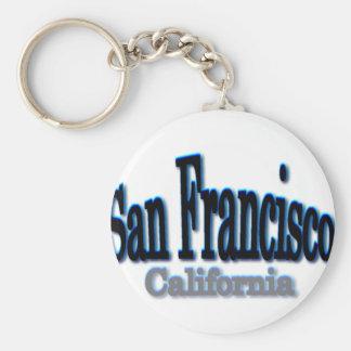 San Francisco Blue Keychains