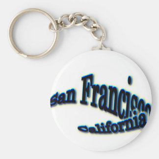 San Francisco Blue  Wave Key Chains