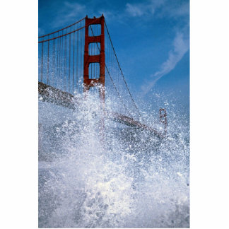 San Francisco Bridge under spray, California, U.S. Acrylic Cut Out