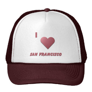 San Francisco -- Burgundy Mesh Hat