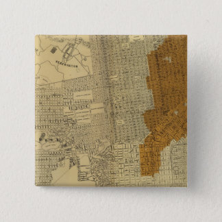 San Francisco burnt area, 1906 15 Cm Square Badge