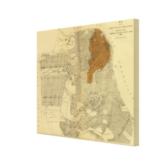 San Francisco burnt area, 1906 Canvas Print