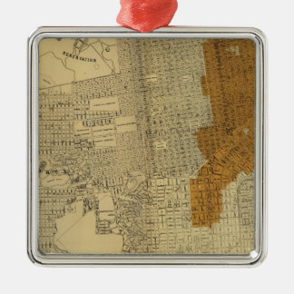 San Francisco burnt area, 1906 Christmas Ornament