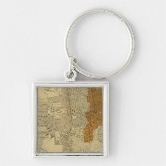 San Francisco burnt area, 1906 Key Ring