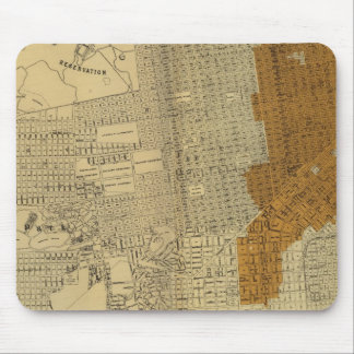 San Francisco burnt area, 1906 Mouse Mat