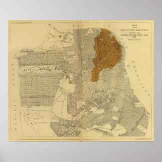 San Francisco burnt area, 1906 Poster