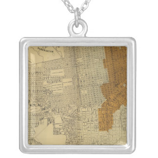San Francisco burnt area, 1906 Silver Plated Necklace
