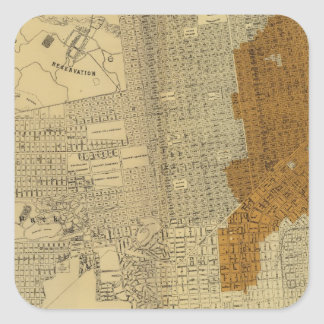 San Francisco burnt area, 1906 Square Sticker