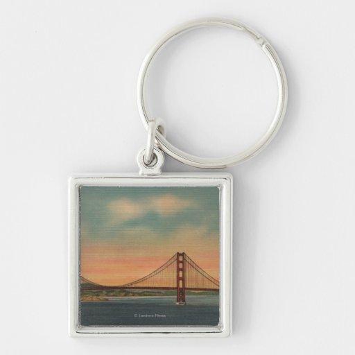 San Francisco, CA 2 Keychain