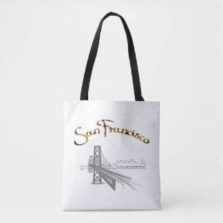 San Francisco, CA, Black,Gold, Cool Tote Bag