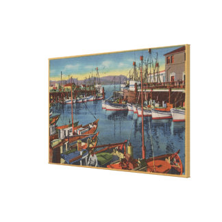 San Francisco, CA Fishing Fleet at Fisherman's Canvas Prints