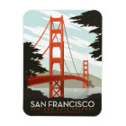 San Francisco, CA - Golden Gate Bridge Magnet
