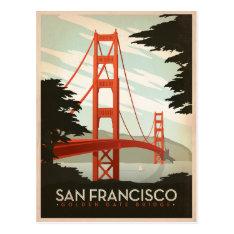 San Francisco, CA - Golden Gate Bridge Postcard at Zazzle