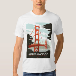 San Francisco, CA - Golden Gate Bridge T Shirt